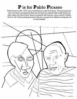 ABC Art History Coloring Pages