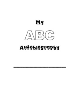 ABC Autobiography Writing Project
