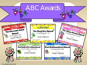 End of the year ABC Awards - Editable