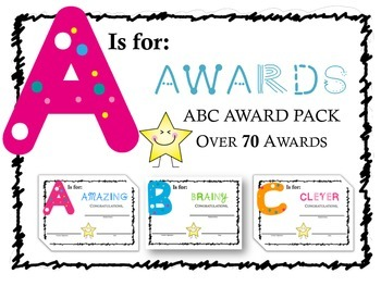 ABC Awards: Over 70+ Alphabet Theme Award Certificates for K-5