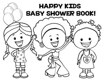 HAPPY KIDS ABC BABY SHOWER BOOK!  NEW PRODUCT!