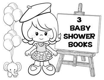 ABC BABY SHOWER BOOKS - PARISIAN THEMED CHARACTERS