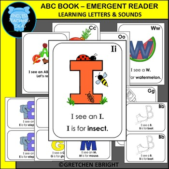 ABC BOOK - EMERGENT READER - LEARNING LETTERS AND SOUNDS