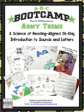 ABC BOOTCAMP & HATS!  26 Day Introduction To Letters & Sounds! Army Theme