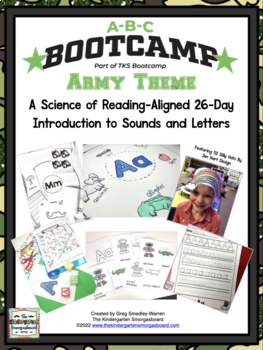ABC Bootcamp! A 26 Day Introduction To Letters & Sounds! Army Theme