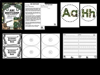 ABC Bootcamp: A 26-Day Introduction to Letters and Sounds (Army Theme)
