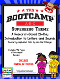 Superhero ABC BOOTCAMP & HATS! Editable 26 Day Introduction to Letters & Sounds