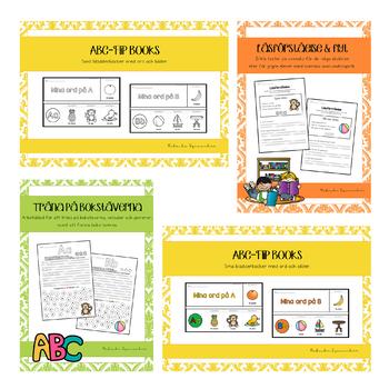 ABC BUNDLE (läsförståelse, forma bokstäverna, flip books och alfabetsplanscher)