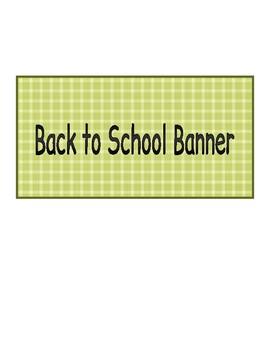 ABC Back to School Celebration Set