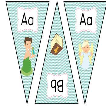 Bible ABC Banner, Bible verse Posters, Brag tags, etc...