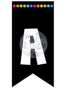 Alphabet Banner {Black and White or Bright Colors!}