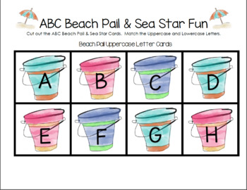 ABC Beach Pail & Sea Star Fun