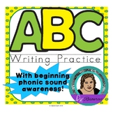 ABC Beginner Writer's Worksheets - Practice Writing All 26 Letters!