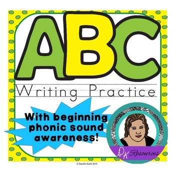 ABC Beginner Writer's Worksheets - Practice Writing All 26