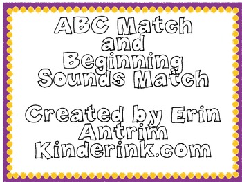 ABC/ Beginning Sound Match