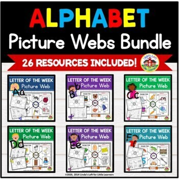 ABC Beginning Sound Picture Web Bundle A to Z