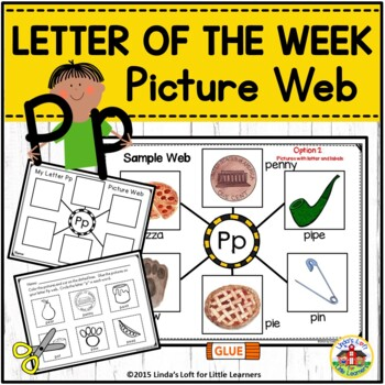 Beginning Sounds Activity A-Z Picture Web Bundle