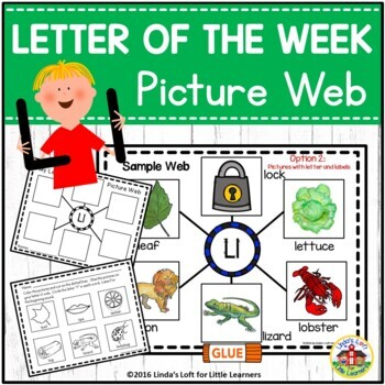 Alphabet Letter of the Week A to Z Beginning Sound Picture Webs