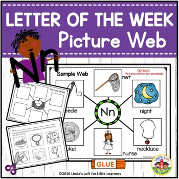 Alphabet Letter of the Week A to Z Beginning Sound Picture Web Bundle