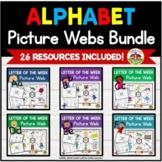 Alphabet Picture Webs | Graphic Organizers BUNDLE A to Z