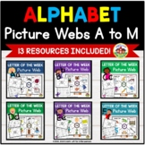 Alphabet Letter of the Week A to M Picture Web Bundle
