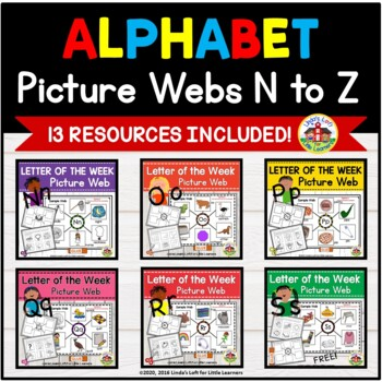 ABC Beginning Sound Picture Web Bundle N to Z