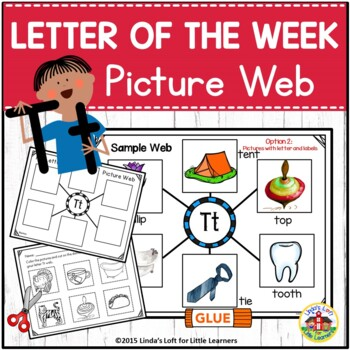 Alphabet Letter of the Week N to Z Picture Web Bundle