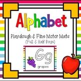 ABC Beginning Sound Play-Doh / Fine Motor Mats ~ 2 Sets