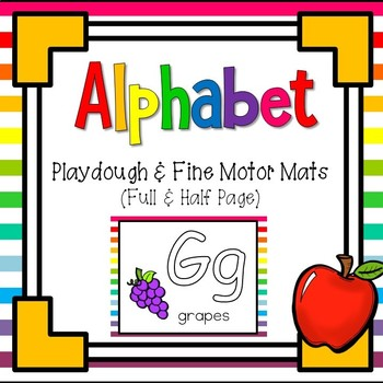 ABC Beginning Sound Play-Doh / Fine Motor Mats ~ 2 Sets