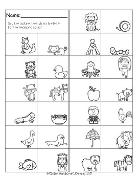 Beginning Sound ABC Stamp