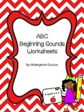 ABC Beginning Sound Worksheets