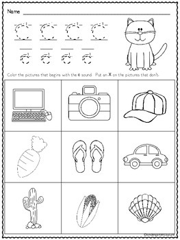 ABC Beginning Sound Worksheets