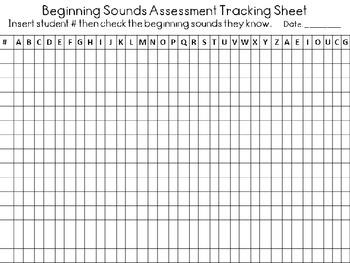 ABC Beginning Sounds Assessment