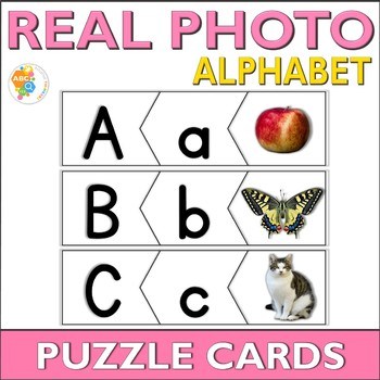 ABC Beginning Sounds Puzzle Cards with Real Photos