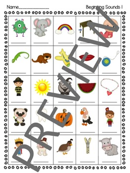 ABC Beginning Sounds Review