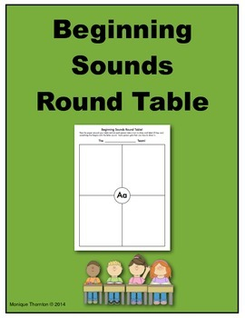ABC Beginning Sounds Round Table