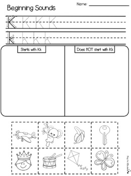 ABC Beginning Sounds Cut and Paste Activity