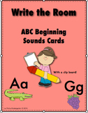 ABC Beginning Sounds Write the Room