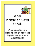 ABC Behavior Data Sheet