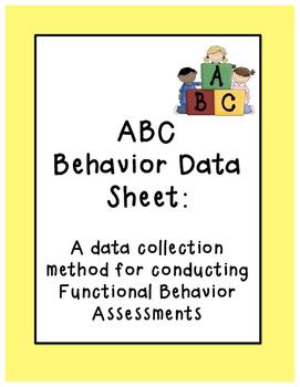 ABC Behavior Data Sheet