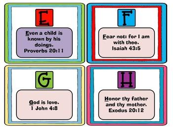 ABC Bible Memory Verse BUNDLE