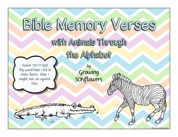 ABC Bible Scripture Memory Verses with Animals Through the Alphabet