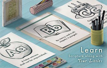 ABC Bible Verse Coloring Pages