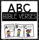 ABC Bible Verse: Flash Cards, Posters, and Coloring Sheets