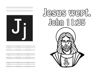 ABC Bible Verse Memory Verse Coloring Pages A to Z!