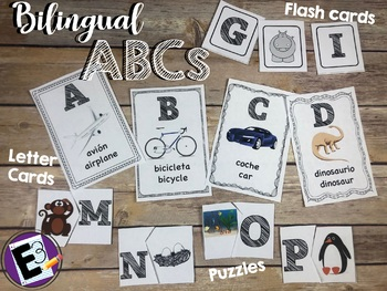 ABC Bilingual Letter Pack ENGLISH AND SPANISH