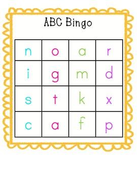 ABC Bingo Cards