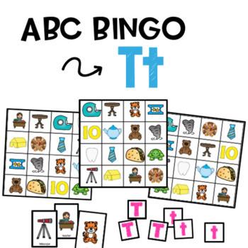ABC Bingo - Letter T