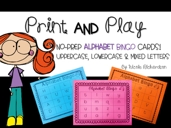 ABC Bingo ~ Uppercase, Lowercase and Mixed letters!
