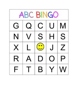 ABC Bingo (Uppercases)